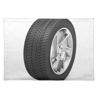 Car wheel placemat