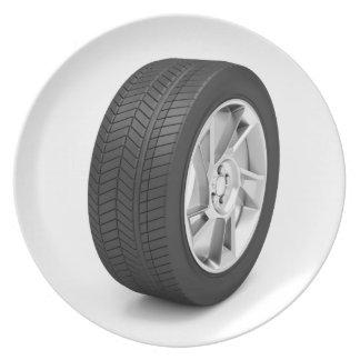 Car wheel plate
