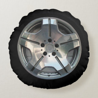 Car Wheel Throw Pillow
