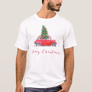 car with a christmas tree T-Shirt