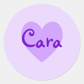 Cara in Purple Classic Round Sticker