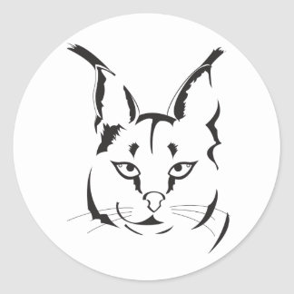 Caracal Classic Round Sticker