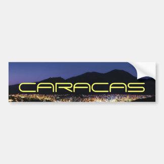 Caracas by night bumper sticker