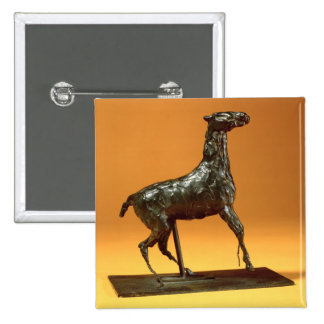 Caracoling Horse (bronze) 2 Inch Square Button