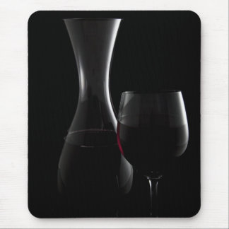 Carafe and Glass Outlines Mouse Pad