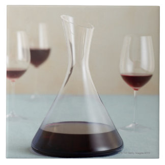 Carafe of red wine ceramic tiles