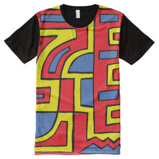 Caraker Abstract 631 Art American Apparel Men's Sh All-Over-Print T-Shirt