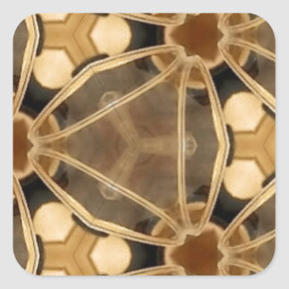 Caramel Abstract Square Sticker