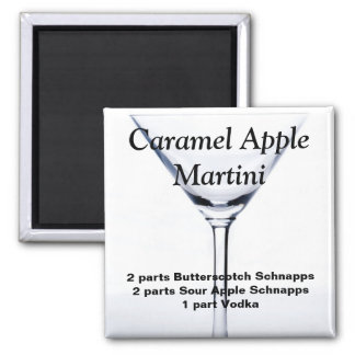 Caramel Apple Martini Magnet