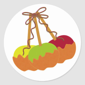 Caramel Apple Round Stickers