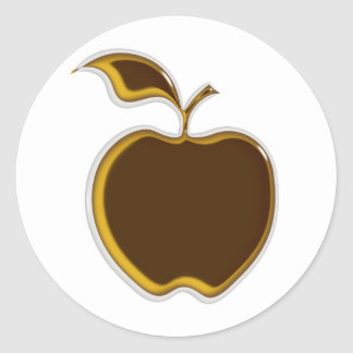 Caramel Apple Stickers..! Classic Round Sticker
