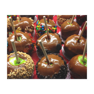 Caramel Apples Wrapped Canvas