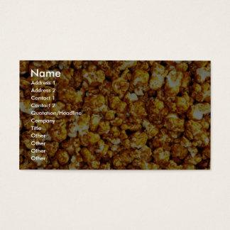 Caramel corn business card