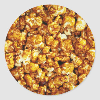 Caramel corn classic round sticker