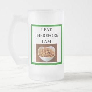 caramel frosted glass beer mug