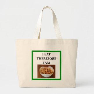 caramel large tote bag