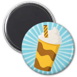 Caramel Milkshake 2 Inch Round Magnet