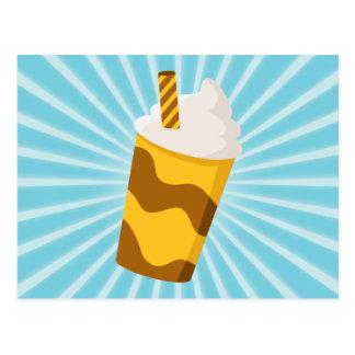 Caramel Milkshake Postcard