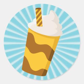Caramel Milkshake Round Sticker