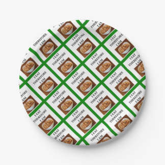 caramel paper plate