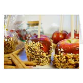 Caramel Peanut Apples Card