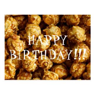 Caramel Popcorn Happy Birthday Postcard