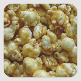 Caramel Popcorn Square Sticker