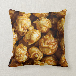 Caramel Popcorn Throw Pillow