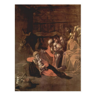 Caravaggio- Adoration of the Shepherds Postcard