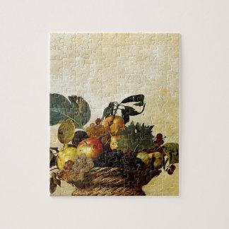 Caravaggio - Basket of Fruit - Classic Artwork Jigsaw Puzzle