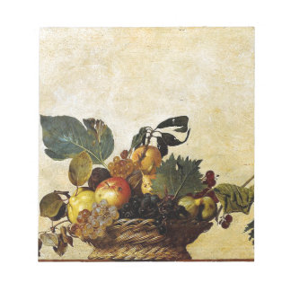 Caravaggio - Basket of Fruit - Classic Artwork Notepad