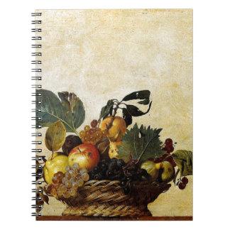 Caravaggio - Basket of Fruit - Classic Artwork Spiral Notebook