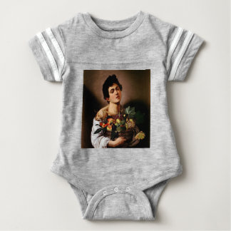 Caravaggio - Boy with a Basket of Fruit Artwork Baby Bodysuit
