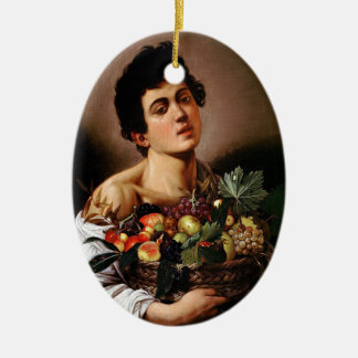 Caravaggio - Boy with a Basket of Fruit Artwork Ceramic Ornament