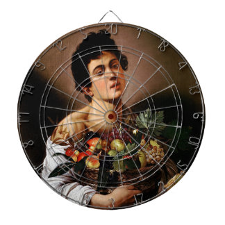 Caravaggio - Boy with a Basket of Fruit Artwork Dartboard