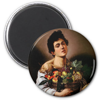 Caravaggio - Boy with a Basket of Fruit Artwork Magnet