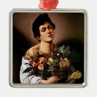 Caravaggio - Boy with a Basket of Fruit Artwork Metal Ornament