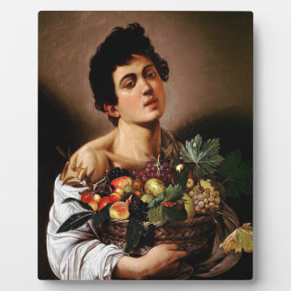 Caravaggio - Boy with a Basket of Fruit Artwork Plaque