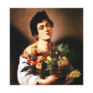 Caravaggio Boy With a Basket of Fruit Canvas Prints