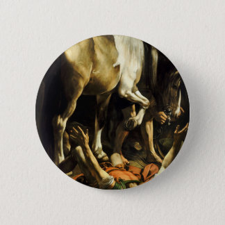 Caravaggio - Conversion on the Way to Damascus 2 Inch Round Button