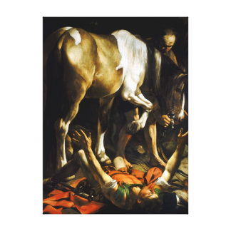 Caravaggio Conversion on the Way to Damascus Canvas Print