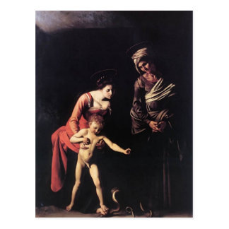 Caravaggio- Madonna and Child with St. Anne Postcard