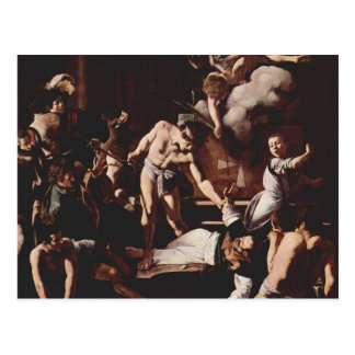 Caravaggio- Martyrdom of Saint Matthew Postcard