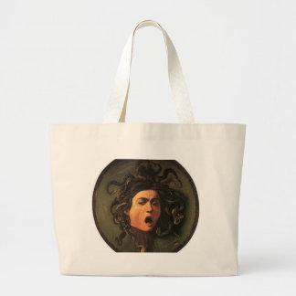 Caravaggio - Medusa - Classic Italian Artwork Large Tote Bag