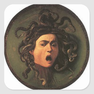 Caravaggio - Medusa - Classic Italian Artwork Square Sticker