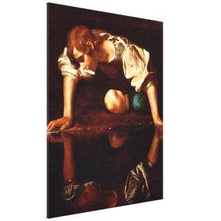 CARAVAGGIO - Narcissus 1598 Canvas Print