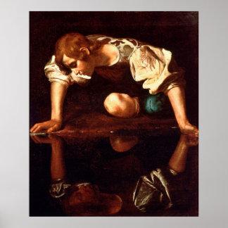 CARAVAGGIO - Narcissus 1598 Poster