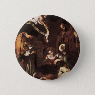 Caravaggio -Nativity with St Francis & St Lawrence 2 Inch Round Button