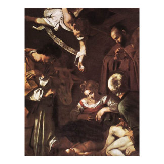 Caravaggio -Nativity with St Francis & St Lawrence Letterhead