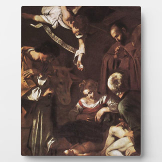 Caravaggio -Nativity with St Francis & St Lawrence Plaque